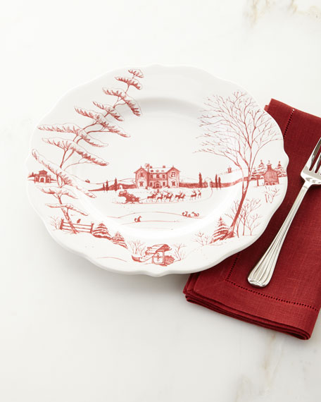 Juliska Country Estate Winter Frolic Dinner Plate