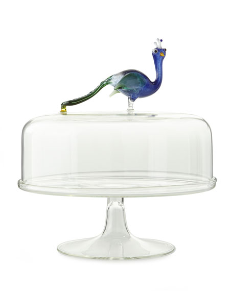Massimo Lunardon cloche peacock in the centre