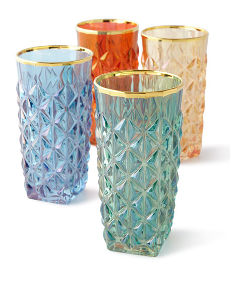 Faceted Highballs, Set of 4