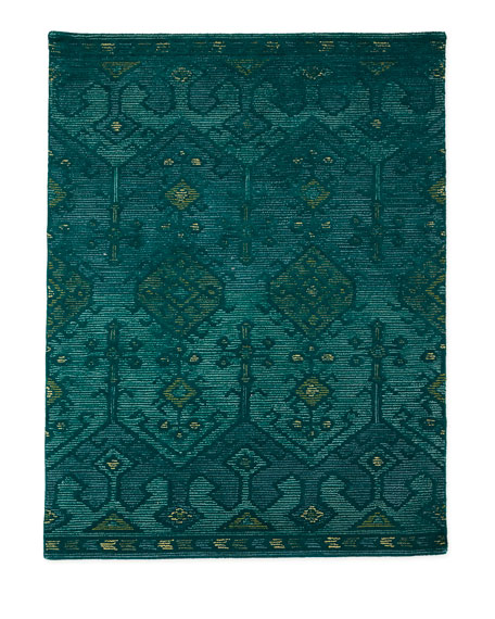 "Gem Hand-Tufted Rug, Teal, 3'6"" x 5'6"""