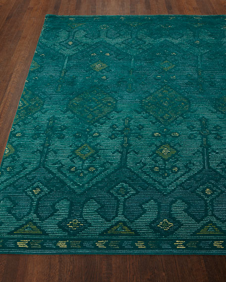 Loloi Rugs Gem Hand-Tufted Rug, Teal, 5' x
