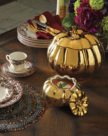 Large Pumpkin Serving Bowl with Lid