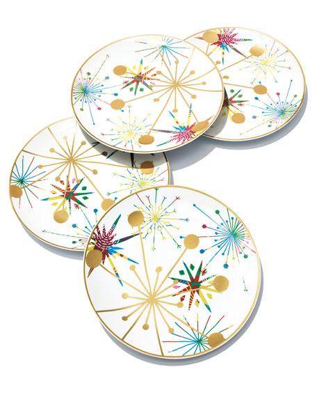 Crazy Good Cheer Dessert Plates, Set of 4