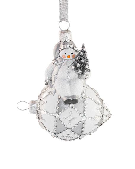 Frostily Snowman Sitting Ornament