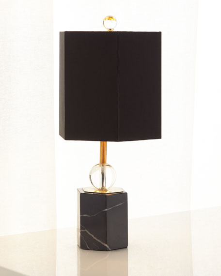 Marchesa Marble Hex Accent Lamp, 18.5""