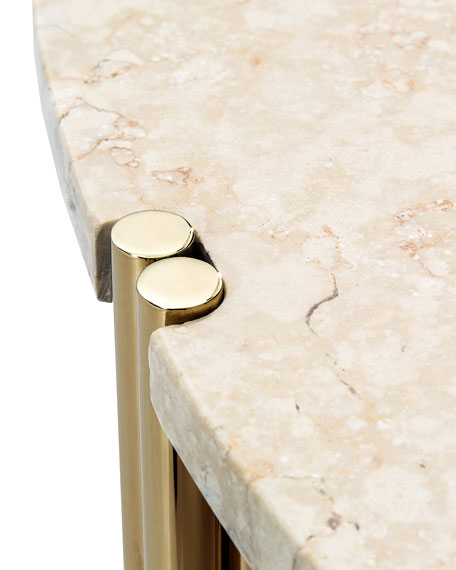 Bryce Round Marble Coffee Table