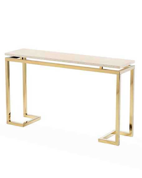 Interlude Home Harper Marble Console Table