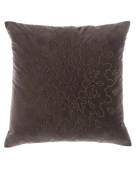 "Gala Beaded Pillow, 20""Sq."