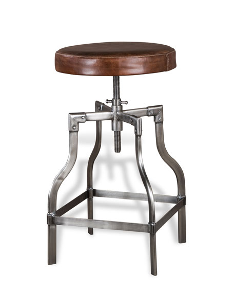 Interlude Home Bryce Leather Counter Stool