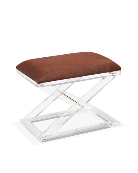 Interlude Home Asher Hairhide Acrylic Stool