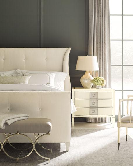 Elisse King Tufted Bed