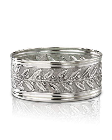 Buccellati Boscoreale Sterling Silver Wine Bottle Coaster
