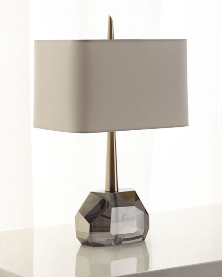 Arteriors Gemma Crystal & Brass Table Lamp