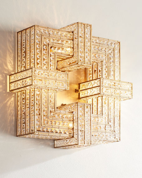 Lexicon 4-Light Flush with Clear Crystals