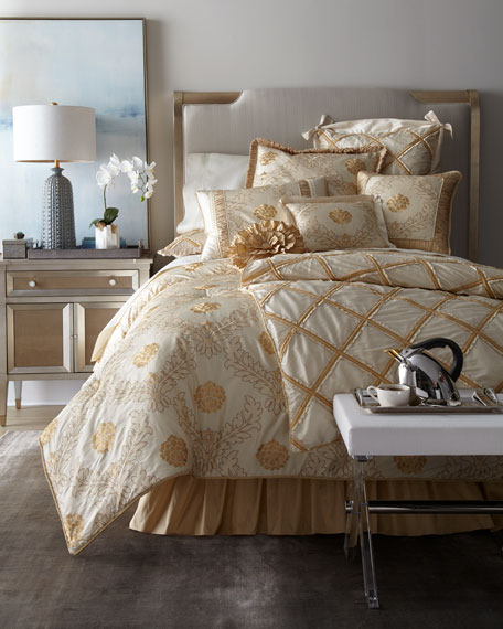 Ruffled Diamond European Sham