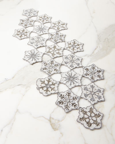 Beaded Snowflake Table Runner, 16