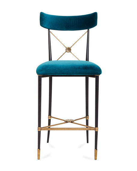 Rider Counter Stool, Blue
