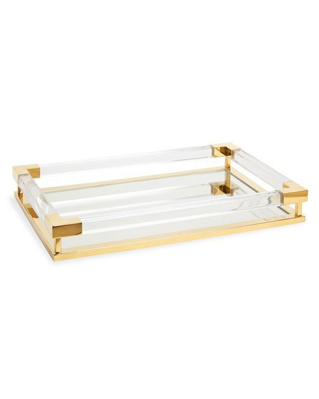 Jonathan Adler Jacques Small Decorative Tray, Brass