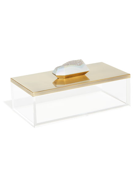 Kendra Scott Acrylic Box with Brass Lid