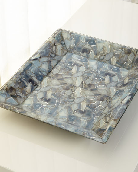 Jamie Young Slate Faux-Agate Tray