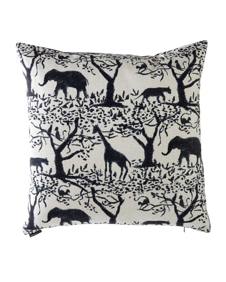 "Taro Safari Pillow, 24"" Square"
