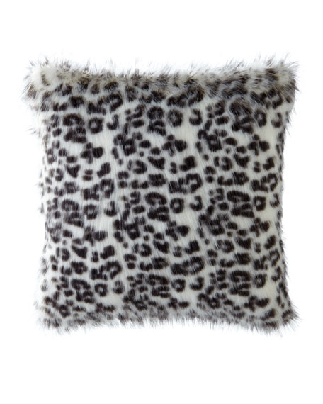 "Panther White Pillow, 22"" Square"
