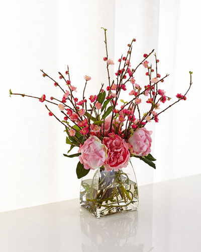 Peony Cherry Blossom Arrangement