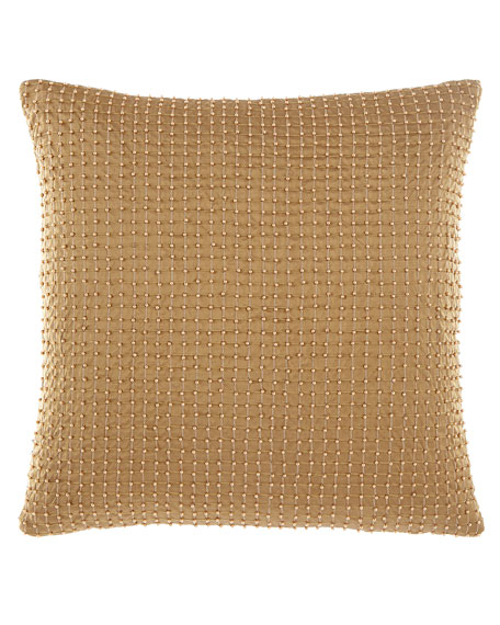 Anna Maria Beaded Silk Pillow