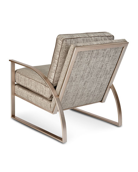 Nahla Metal and Upholstered Accent Chair