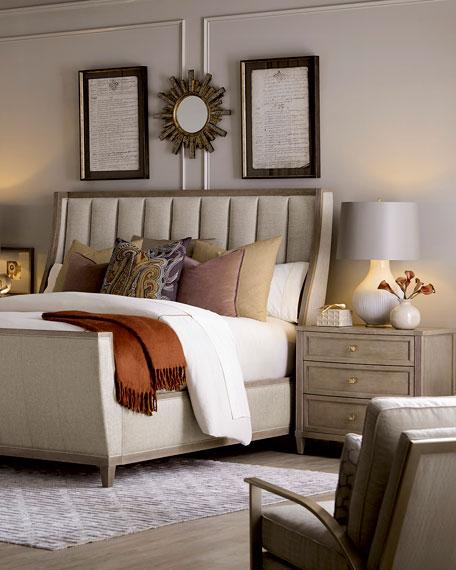 east abbott channel tufted king sleigh bed - King Sleigh Bed Frame