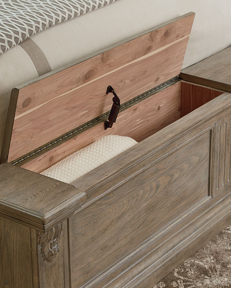 Daphne Queen Bed with Cedar Storage