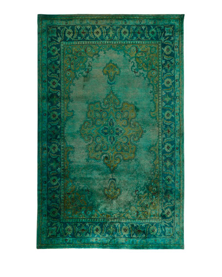 Lotus Hand-Tufted Wool Rug, 5' x 8'