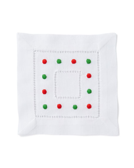 Holiday Dots Cocktail Napkins, Set of 6