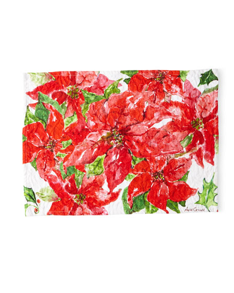 Poinsettia Placemats, Set of 4