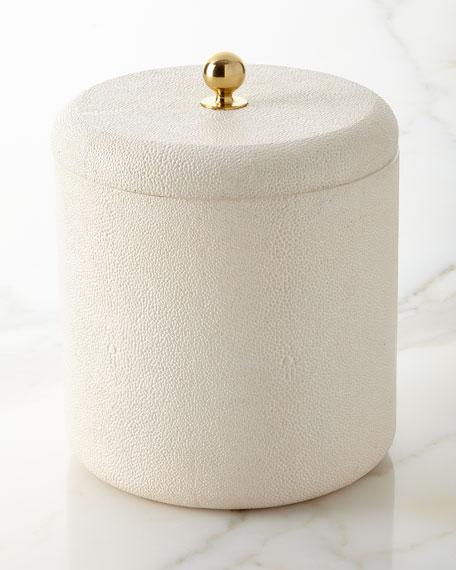 Shagreen Ice Bucket, Cream