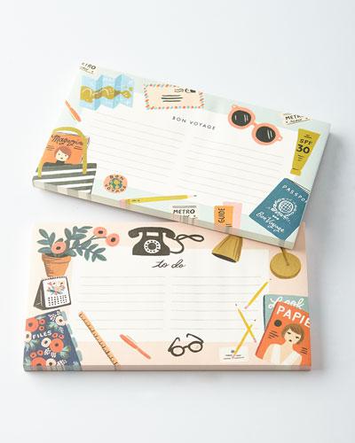 Desktop and Bon Voyage Notepads, Set of 2