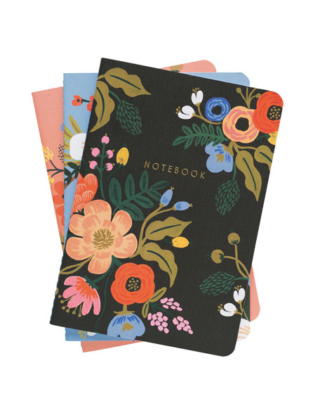 Lively Floral Notebooks, Set of 3