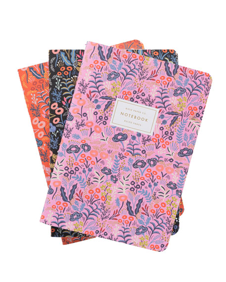 Tapestry Stitched Notebooks, Set of 3