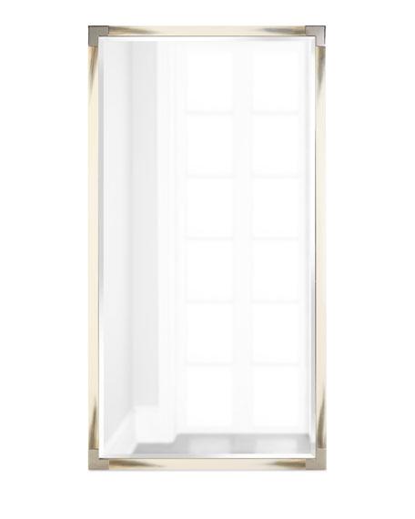 Estelle Faux-Horn Floor Mirror