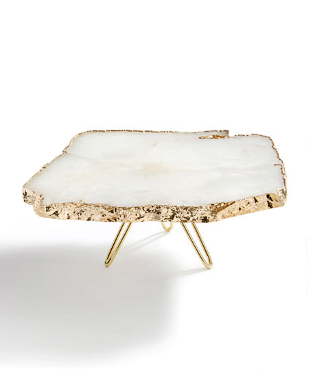 ANNA by RabLabs Torta Gold-Plated Cake Stand and