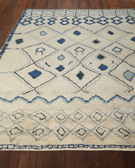 Iris Hand-Knotted Rug, 5' x 8'