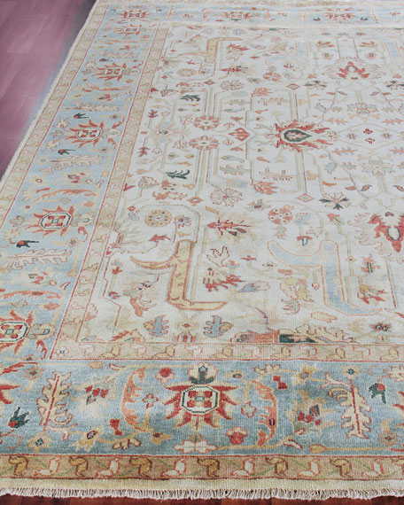 Exquisite Rugs Haylane Oushak Hand-Knotted Rug & Matching