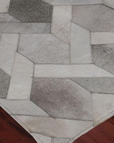 Dara Hand-Stitched Hairhide Rug, 5' x 8'