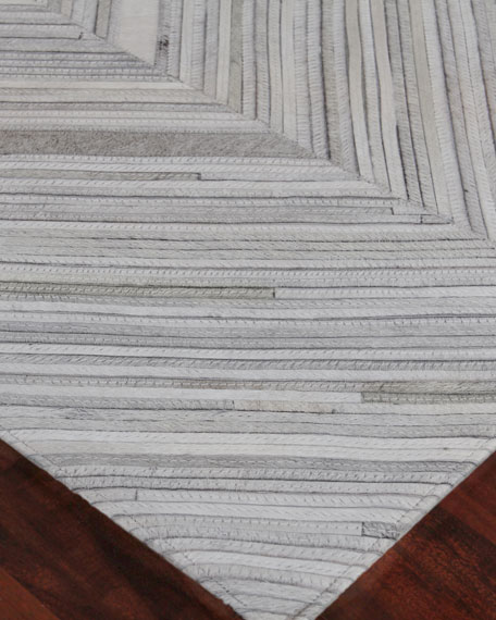 Bellamy Hand-Stitched Hairhide Rug, 5' x 8'