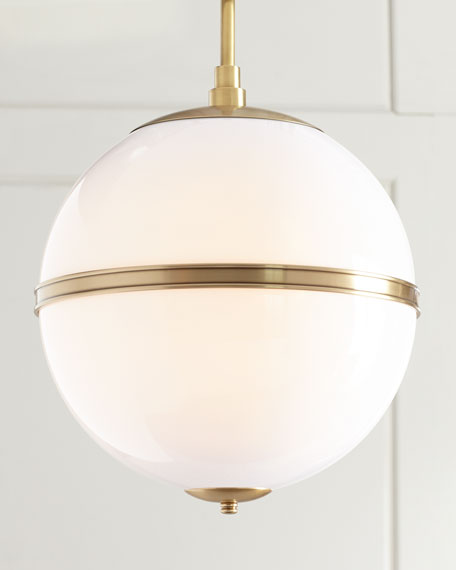 Truax 3-Light Aged Brass Mini Chandelier