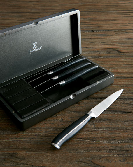 Strip Serrated Steak Knives, Four-Piece Boxed Set