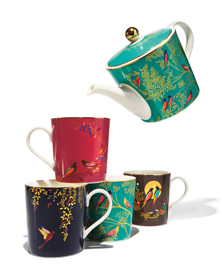 Sara Miller Assorted Mugs, Set of 4