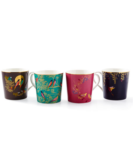Portmeirion Sara Miller Assorted Mugs, Set of 4