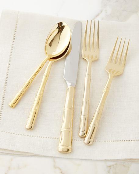 Wallace Silversmiths 20-Piece Gold Bamboo Flatware Service