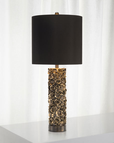 John-Richard Collection Distressed Bloom Table Lamp